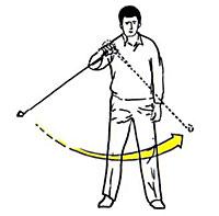 Bild 1: Den Pendelrhythmus mit dem Step Wedge Iron fühlen lernen (Stufe 1)